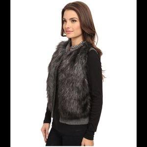 Michael Kors faux fur chain collared vest